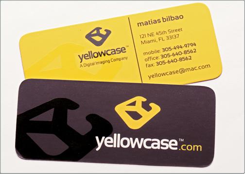 Spot uv business card yellowcase design critique reheart Gallery