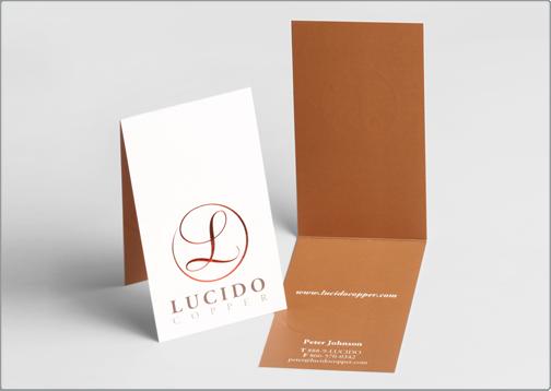 Folded business cards lucido copper design critique colourmoves