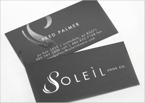 Soleil shoe co design critique this business card colourmoves