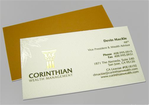 Corinthian wealth management for Business card management