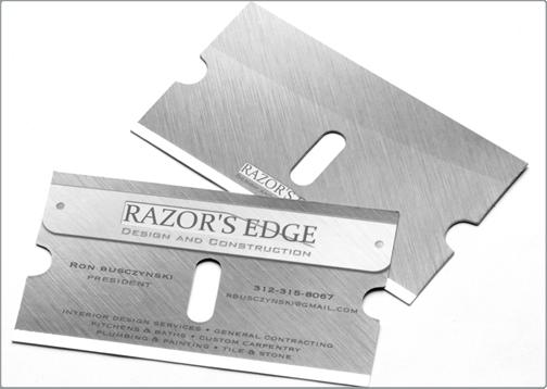 design critique this silk business card - Custom Die Cut Business Cards