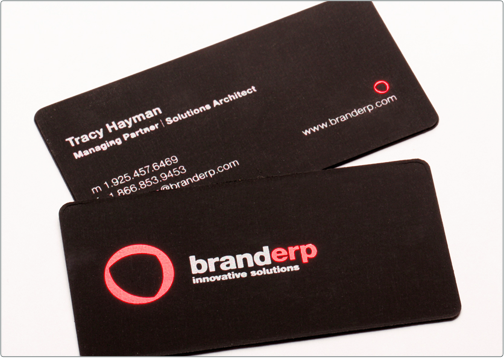 Business cards brand erp suede business cards company industry company branding reheart Image collections