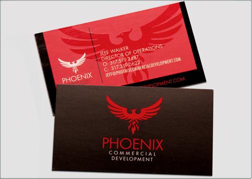 business card design phoenix commercial development