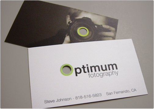 Business card design toi design optimum fotography design critique this card was designed for optimum fotography located in san fernando california reheart Image collections
