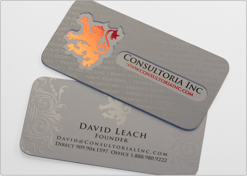 Consultoria business card design company industry filmvideo production colourmoves
