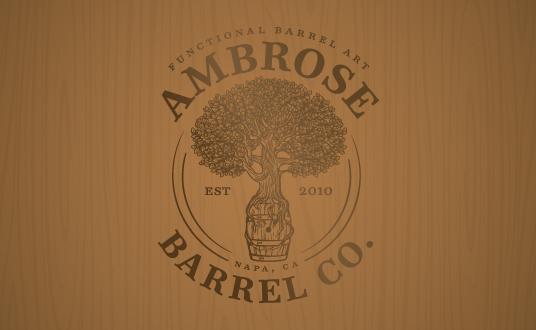 logo design ambrose high end graphic design