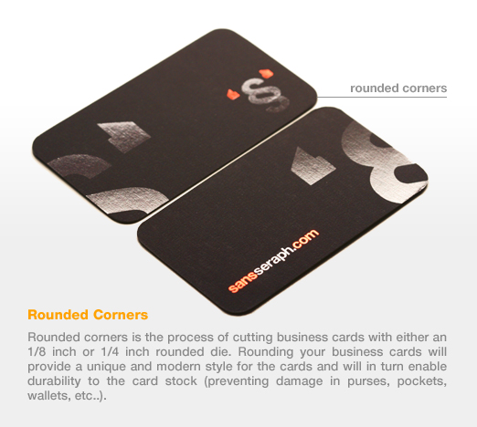 Personal business cards cotton business cards taste of ink add rounded corners to your card reheart Gallery