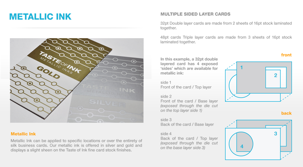 Silk business cards thick luxury business cards taste of ink studios metallic inks colourmoves