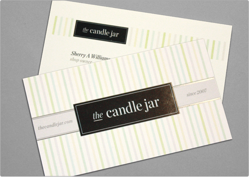Business card template toi design candle jar personalize the card with your content customize it by adding additional artwork color palette logo etc after your order has been placed online colourmoves