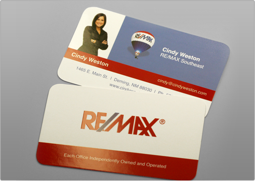 Business card template toi design remax personalize the card with your content customize it by adding additional artwork color palette logo etc after your order has been placed online colourmoves