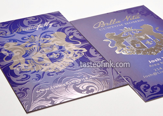 Spot uv business cards silk business card printing taste of ink silk business card with spot uv reheart Images