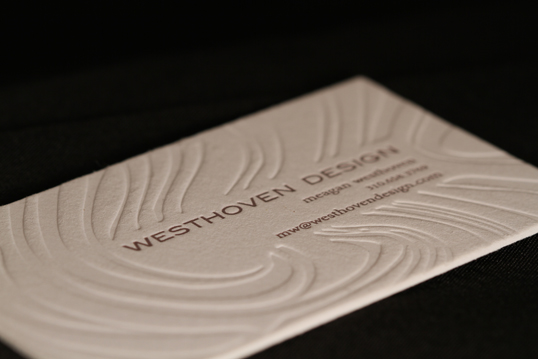 Embossed Cotton Business Card