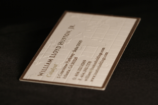 Embossed Map Cotton Business Card