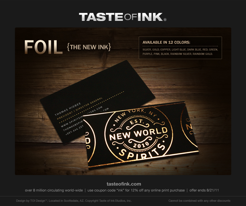 Foil the new ink foil stamping foiled cards the new ink reheart Gallery