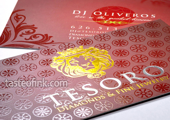 Foil business cards decorative foil stamping taste of ink foil silk business cards colourmoves