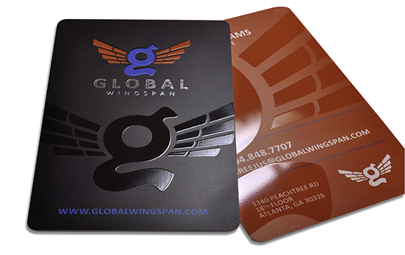 Plastic Business Card with Foil and Spot Gloss