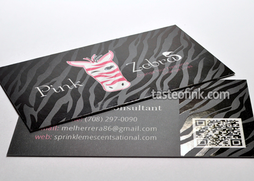 Silk Business Card with QR Code and Spot Gloss