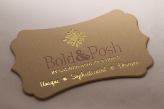Shaped Cotton Business Card