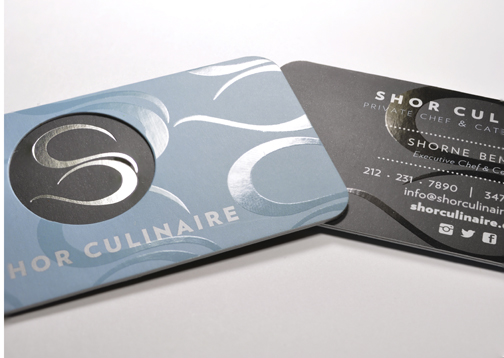 Silk Layer Business Card with Foil and Spot Gloss