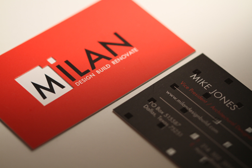 Silk Business Card Red