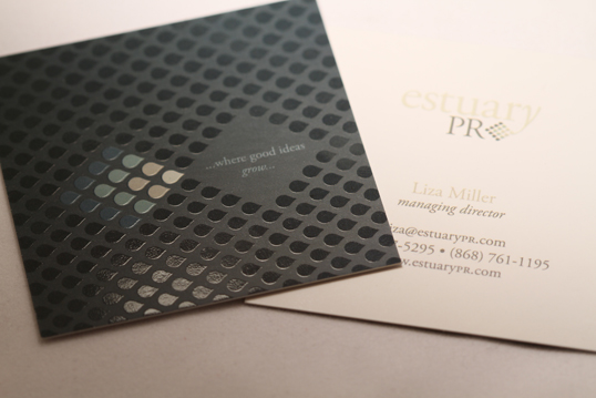 Square Silk Business Card with Spot Gloss