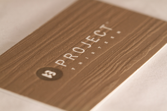 Textured Wood Grain Business Card