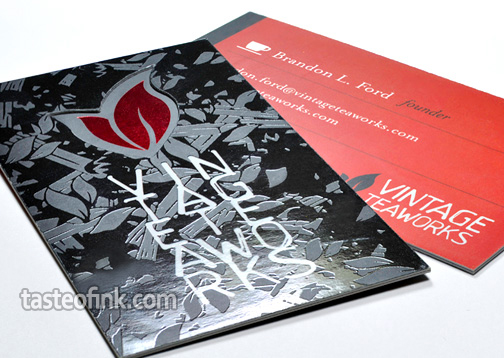 Modern Silk Layer Business Card