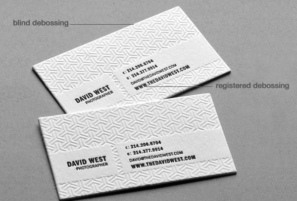 Debossing debossed business cards debossed cards blind debossing registered debossing reheart Image collections