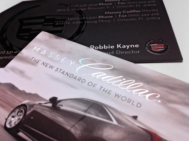The Cadillac Project | Business Card Design