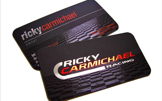 Custom business cards best cool business cards taste of ink custom business card design for ricky carmichael colourmoves