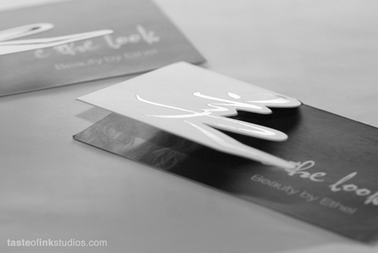 die cut business cards custom