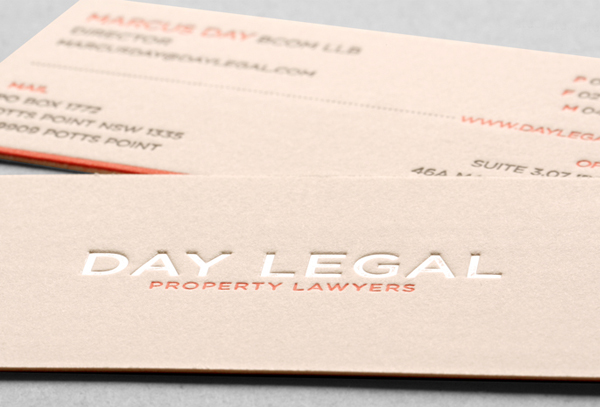 Day Legal Pearl Foil Business Card