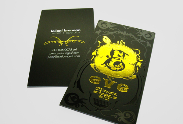 Foil Business Cards Decorative Foil Stamping Taste of Ink