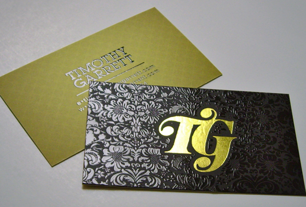 tg gold foil business cards - Foil Stamped Business Cards