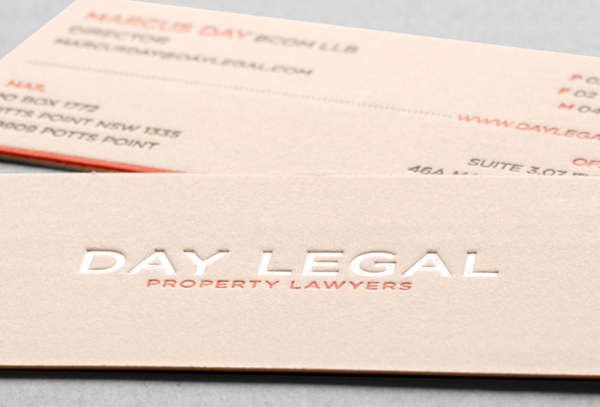 Pearl Foil Debossed Business Cards