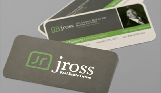 rounded corner business cards, die cut,